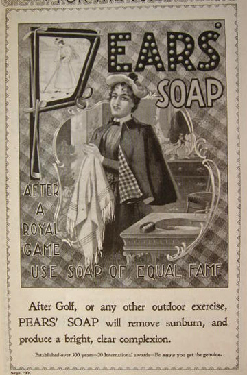 1897 Pears Soap Ad ~ After Golf