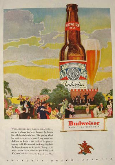 Details about  /5x Vintage Anheuser-Busch Budweiser Beer Bar Coaster 1933-1939 Never used 3337