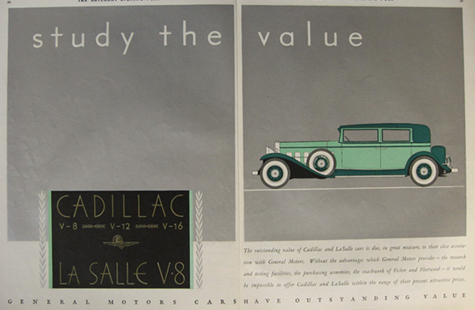 1931 Cadillac La Salle Ad ~ Two Pages