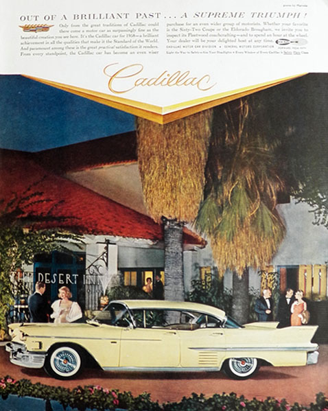 1958 Cadillac Sixty-Two Coupe Ad ~ Supreme Triumph
