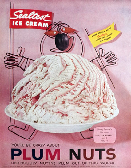 Vintage ice cream ads hot girls wallpaper for Where can i find blue bell christmas cookie ice cream