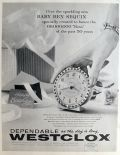 1958 Baby Ben Sequin Clock Ad ~ Specially Created