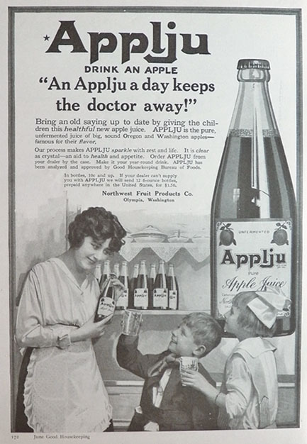 1917 Appleju Apple Juice Ad Keeps The Doctor Away
