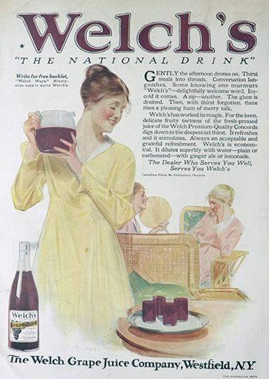1917 Welch's Grape Juice Ad ~ Cushman Parker Art