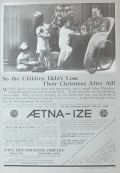 1916 Aetna Life Insurance Ad ~ Antique Wicker Wheelchair