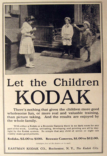 1910 Kodak Camera Ad ~ Let the Children Kodak, Vintage ...