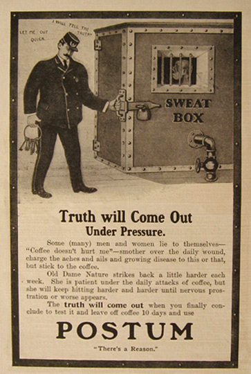 1905 Postum Beverage Ad ~ Truth Will Come Out