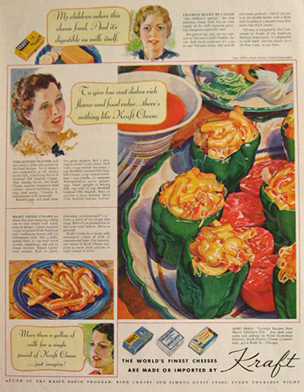 1936 Kraft Cheese Ad ~ Cheese Straws Recipe