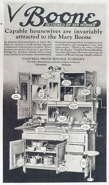 1927 Mary Boone Hoosier Cabinet Ad Capable Housewives
