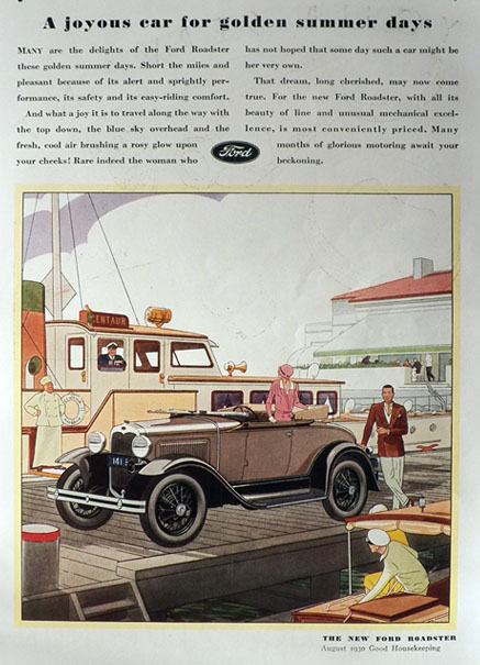 1930 Ford Roadster Ad ~ A Joyous Car
