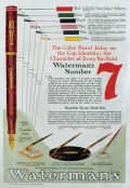 1928 Waterman's Number 7 Fountain Pen Ad