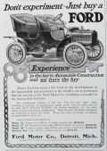 1905 Ford Model F Ad ~ Don't Experiment