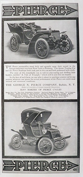 1904 Pierce Auto Ad ~ Arrow Touring & Pierce Stanhope