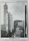 1908 Waterman's Fountain Pen Ad ~ Waterman Building, Singer Building