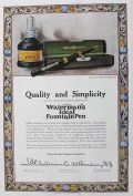 1909 Waterman's Ink & Fountain Pen Ad