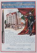 1908 Waterman's Ideal Pen Ad ~ School Days