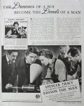 1940 Movie Ad ~ Edison The Man ~ Spencer Tracy