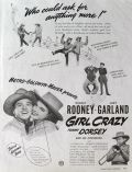1943 Movie Ad ~ Girl Crazy ~ Judy Garland