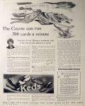 1928 Keds Shoes & Sneakers Ad ~ Stalked by a Coyote