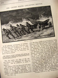 1880 United States Lifesaving Service (U.S.L.S.S.) ~ Old Magazine Article