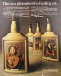 1967 Jim Beam Decanter Ad ~ Famous Artists