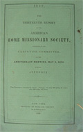 1839 American Home Missionary Society ~ 13th Report