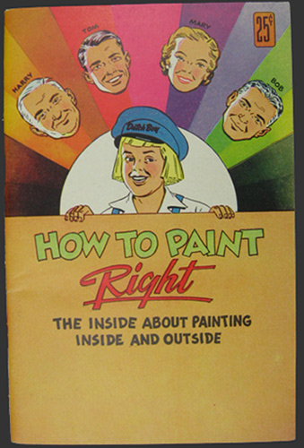 Vintage Comic Book Dutch Boy Paints How To Paint Right Magazine Ads