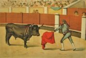 La Lidia Antique Bullfighting Print