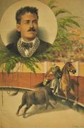 La Lidia Antique Bullfighting Print ~ Ponciano Diaz