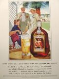 1939 Lord Calvert Whiskey Ad ~ Biscayne Bay- George Hughes Art