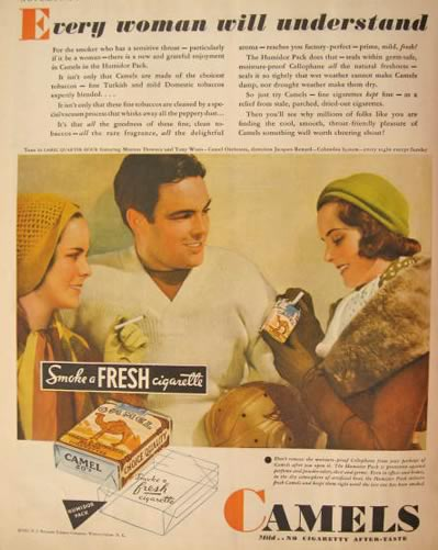 analysis of camel advertisements Cigarette ads see cscs activity critically analyze five or more modern cigarette advertisements describe the visual messages associated with the advertisements and.