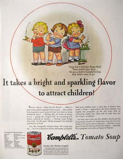 1935 Campbell's Soup Ad ~ Adorable Campbell's Kids