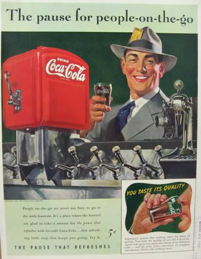 1941 Coca Cola Coke Ad ~ Soda Fountain