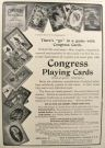 1906 Antique Congress Playing Cards Ad