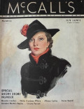 1935 McCall's Magazine Cover ~ Stylish Woman in Black
