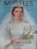 1936 McCall's Magazine Cover ~ Bride with Calla Lilies