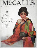 1925 McCall's Magazine Cover ~ Fashionable Woman with Mirror