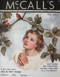1935 McCall's Magazine Cover ~ Woman & Scarlet Tanagers