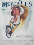 1929 McCall's Magazine Cover ~ Woman Watches Biplanes