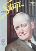 1936 Stage Magazine Cover ~ George M. Cohan