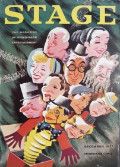 1937 Stage Magazine Cover ~ Celebrity Caricatures