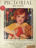 1929 Pictorial Review Cover ~ McClelland Barclay Child with Doll