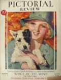 1929 Pictorial Review Cover ~ Girl Scout with Puppy