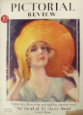 1929 Pictorial Review Cover ~ McClelland Barclay Woman in Huge Hat