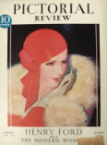 1929 Pictorial Review Cover ~ Woman In Head Scarf ~ McClelland Barclay