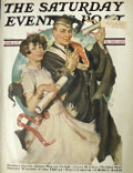1927 Saturday Evening Post Cover ~ Graduating Couple