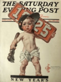 1925 Saturday Evening Post Cover ~ Leyendecker New Year Baby