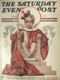 1925 Saturday Evening Post Cover ~ Baby King Valentine