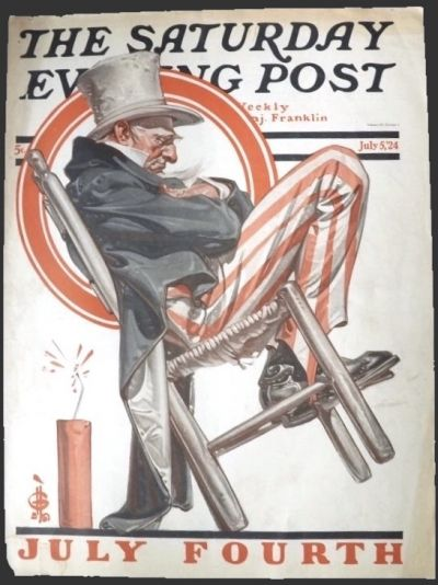 1924 Saturday Evening Post Cover ~ Leyendecker ~ Uncle Sam July 4