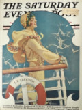 1929 Saturday Evening Post Cover ~ Woman on Vacation Cruise